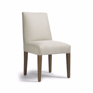 Picture of JENNIFER DINING SIDE CHAIR W/WOOD LEGS