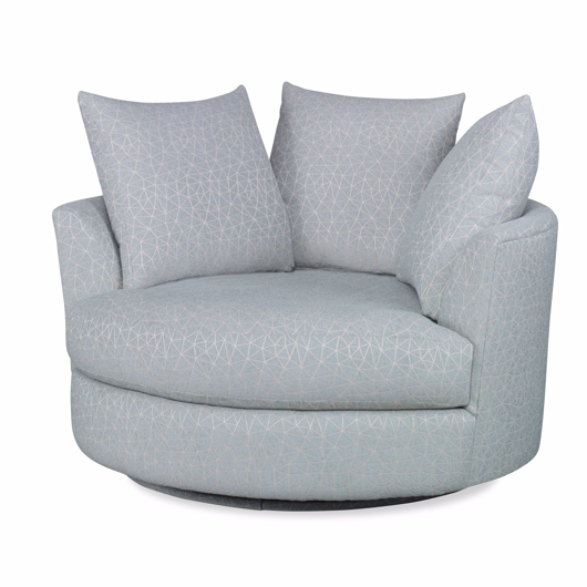 Picture of CUDDLE CIRCLE LOUNGE SWIVEL, 3 27X24 TOSS PILLOWS